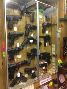 Fully stocked pistol wall
